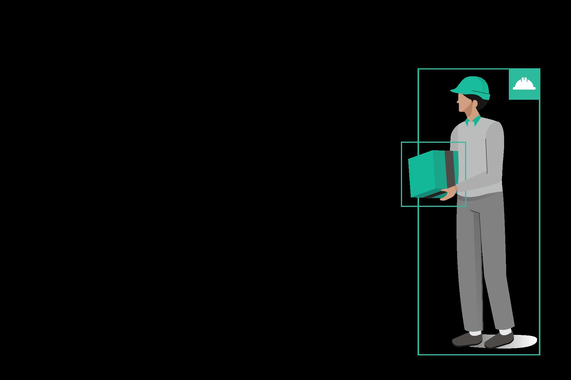 Helmet detection for large industrial sites animatie